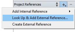 External references menu