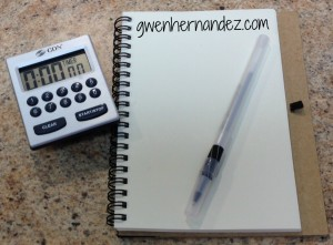 pic of timer and notebook