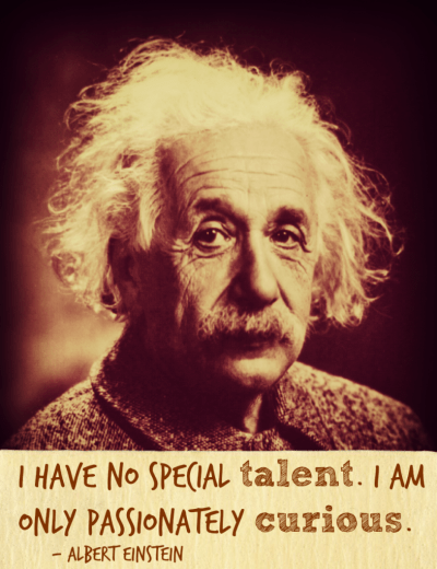 Albert Einstein talent quote