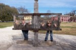 Boys in stocks in Colonial Williamsburg