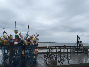 buoys on pier