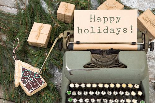 typewriter pine boughs presents
