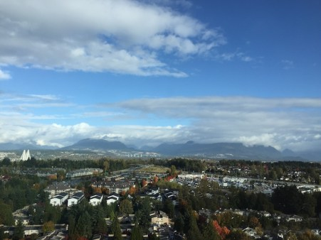 view of Surrey/Vancouver from hotel
