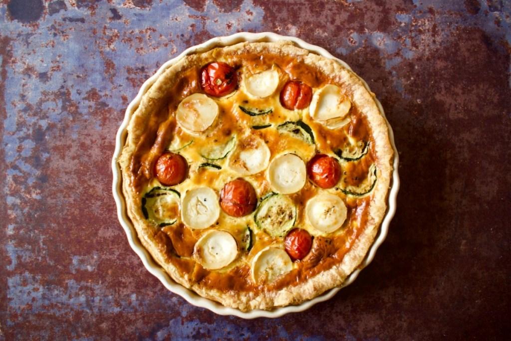 Geitenkaasquiche met cougette en tomaat - Gwenn's Bakery