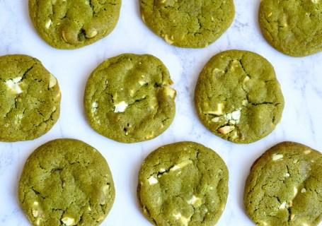 Matcha cookies met macadamia en witte chocolade - Gwenn's Bakery