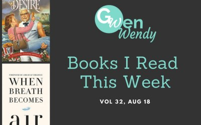 Books I read this week Vol 32, Aug 19