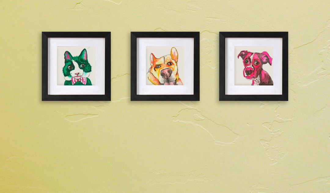 picture frame mockup series horizontal
