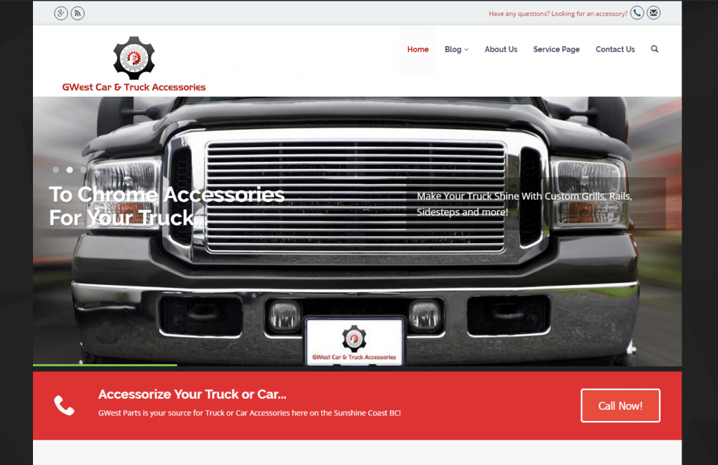 GWestParts.com  Screenshot