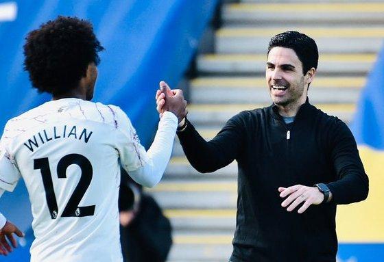 Arteta Praises Willian As Arsenal Thrash Leicester 3-1