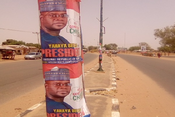 2023: Supporters Flood Adamawa With Yahaya Bello's Presidential Campaign Posters [Photos]