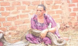 Woman Caught Breastfeeding Snake