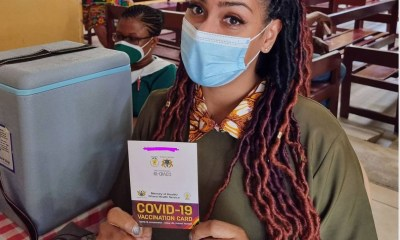 Actress, Juliet Ibrahim Receives Her Covid-19 Vaccine