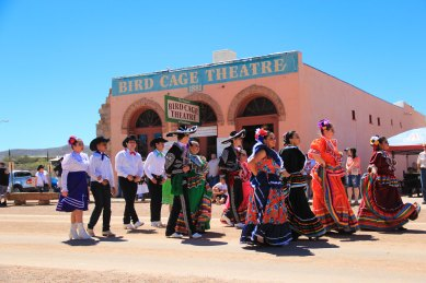 Tombstone Parade Hispanic Dancers