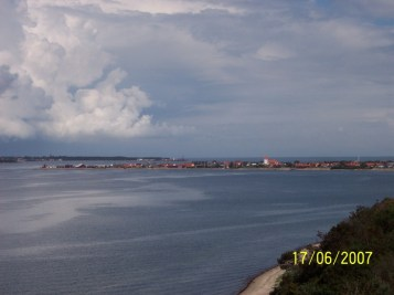 Danish village along Limfjord