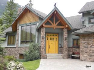 Front door at Panorama, B.C.