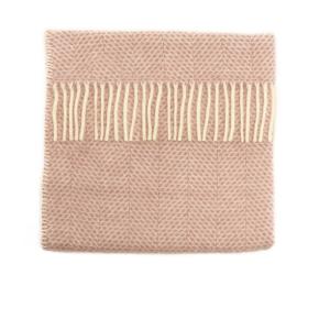 Pram Blanket Beehive Dusky Pink