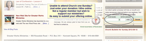 How Donate online to Greater Works Ministries