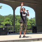 Festival of Praise in the Park. Eddie Rivera sings Gospel Reggae. July 17, 2017