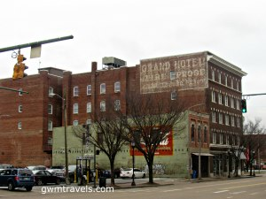 Ghost sign for the Grand Hotel, Chattanooga, TN