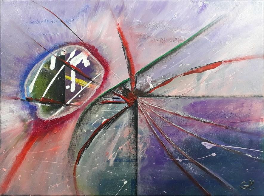"""#49 """"Glaze"""" Acrylique sur toile, 30x40"""