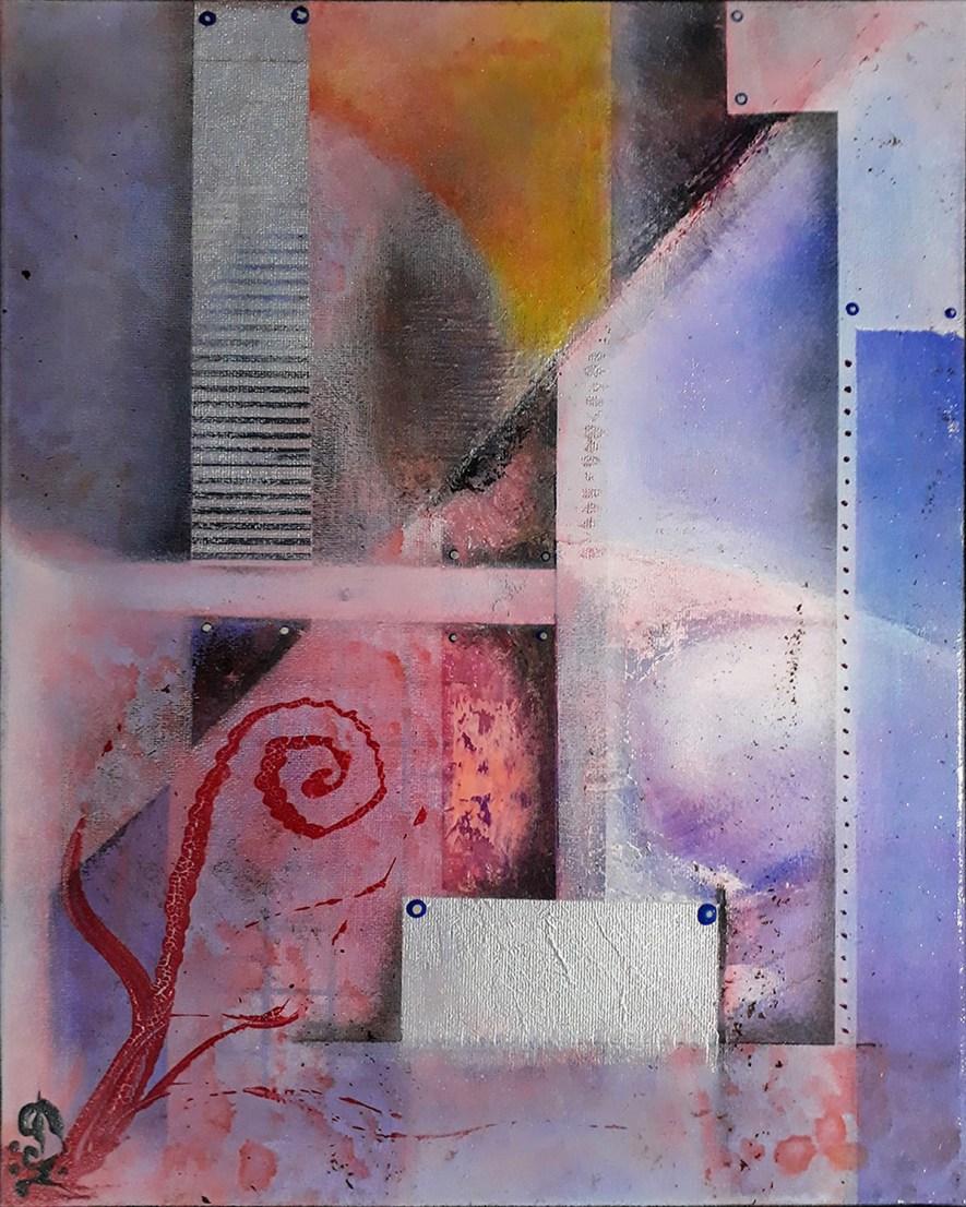 """#79 """"Kapheira"""" Acrylique sur toile, 40x30"""