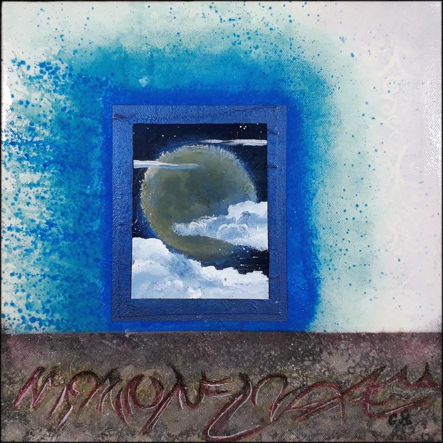 """#134 """"Derniers mots"""" Acrylique sur toile, 30x30 cm"""