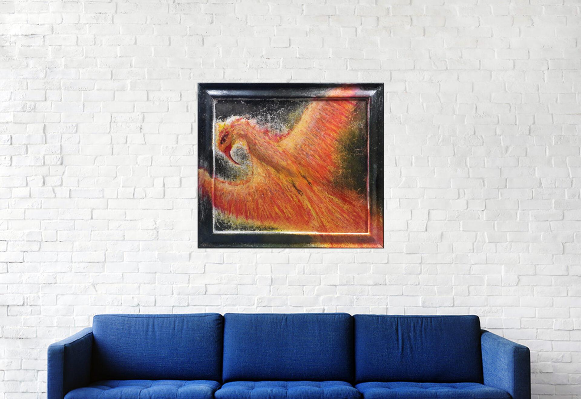 """#149 """"Ph-1"""" Acrylique sur bois, 49 x 55 cm"""