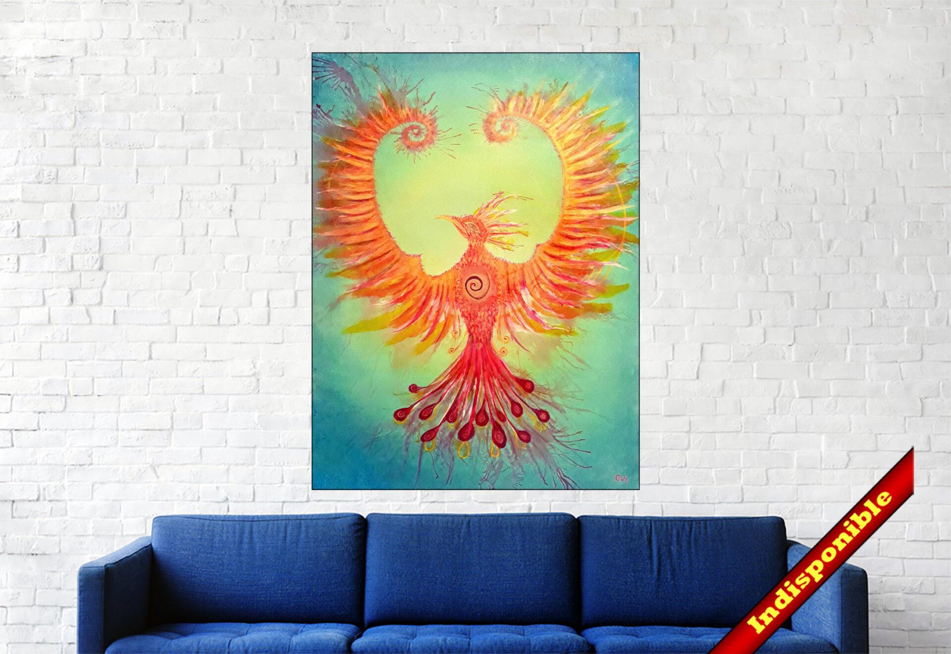 #150 Raise Acrylique sur toile, 80 x 60 cm