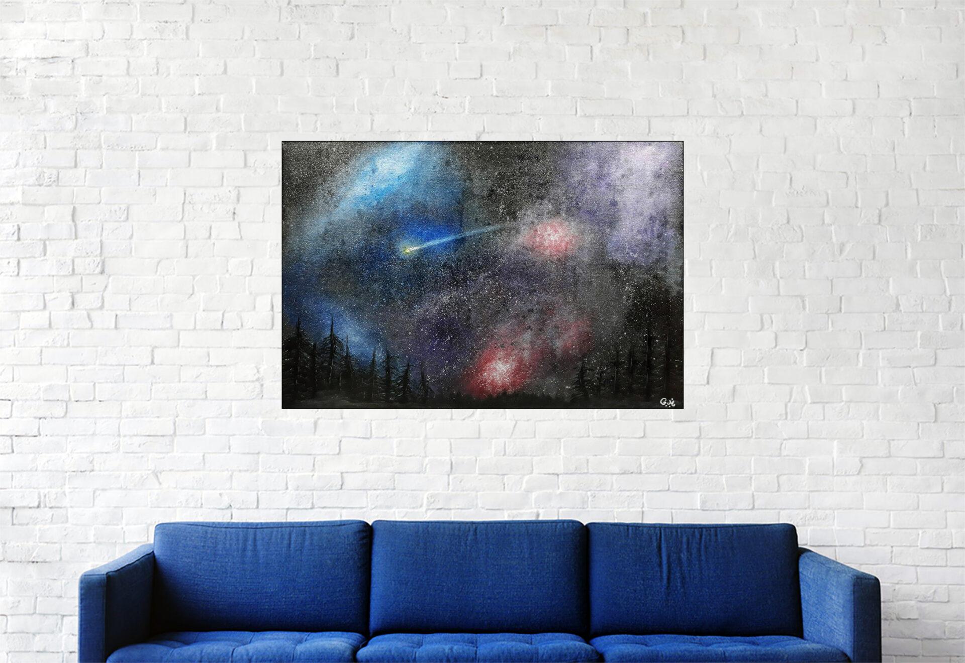 """#152 """"Hope"""" Acrylique sur toile, 40 x 60"""
