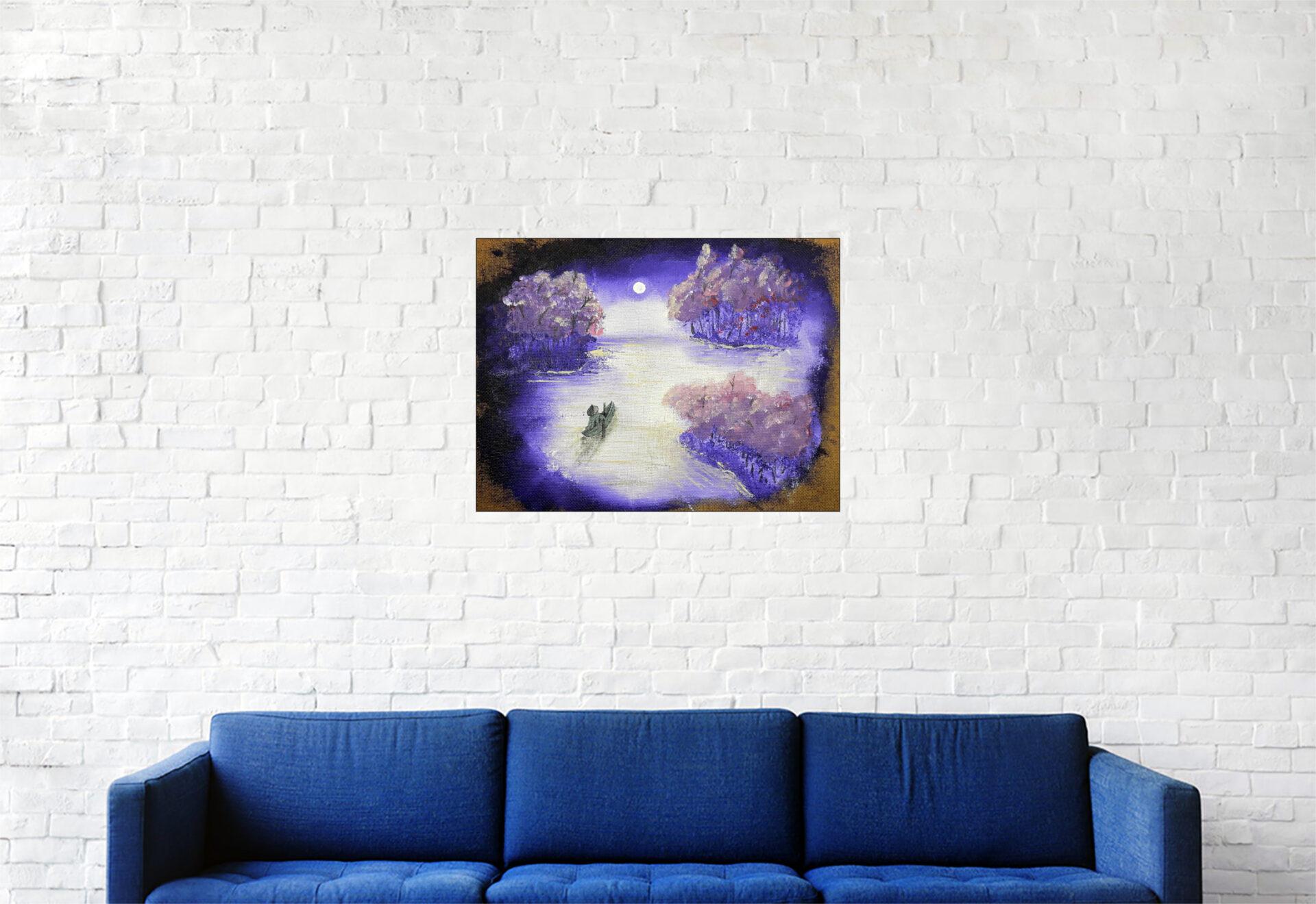 """#157 """"Dérive"""" Acrylique sur carton toile, 30 x 40 cm"""