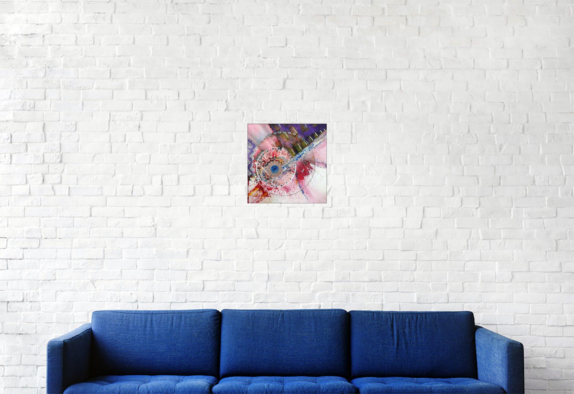 """#159 """"Clin"""" Acrylique sur carton toilé, 20 x 20 cm"""
