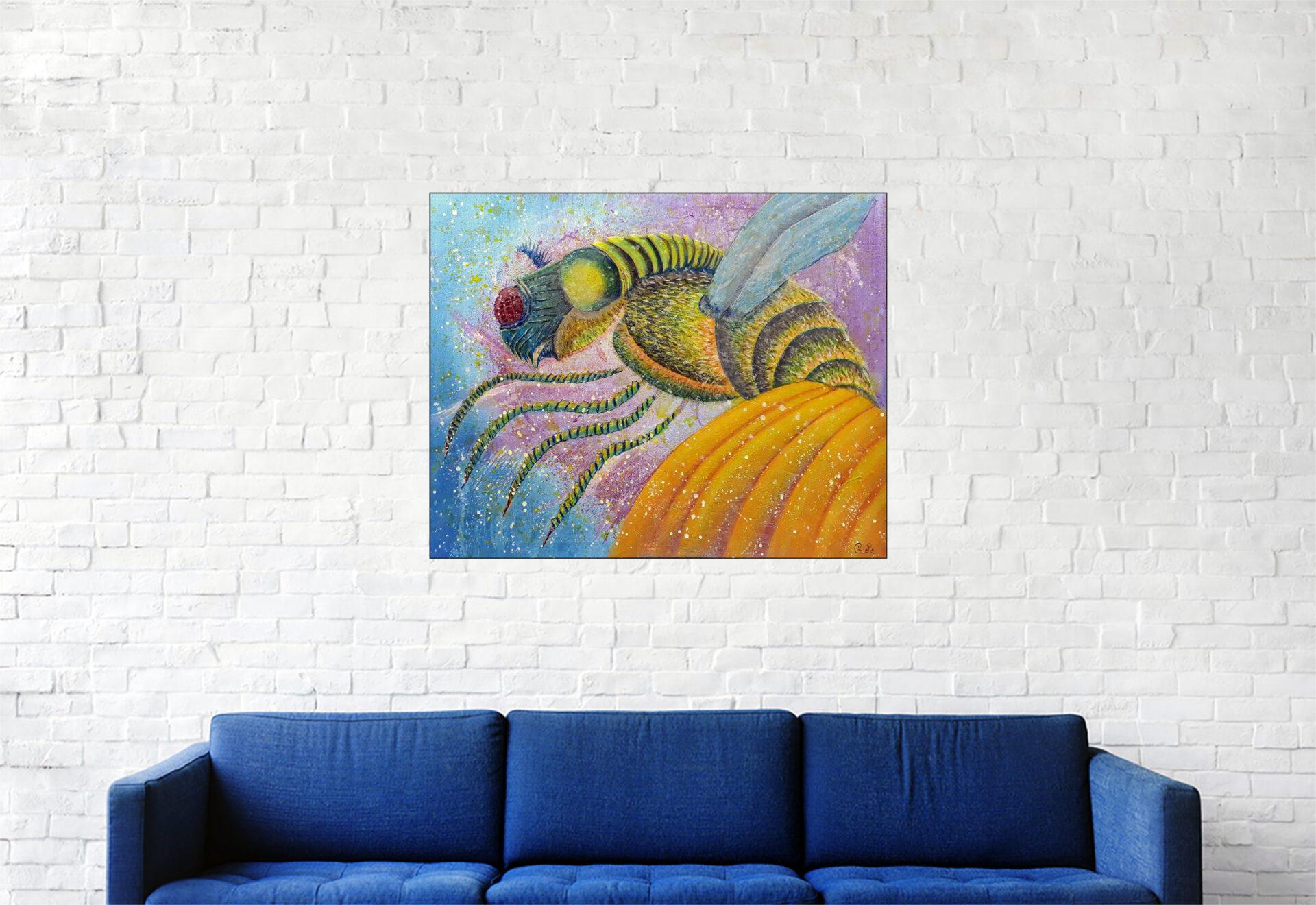"""#165 """"SEK.II.ID"""" Acrylique sur toile, 40x50 cm"""