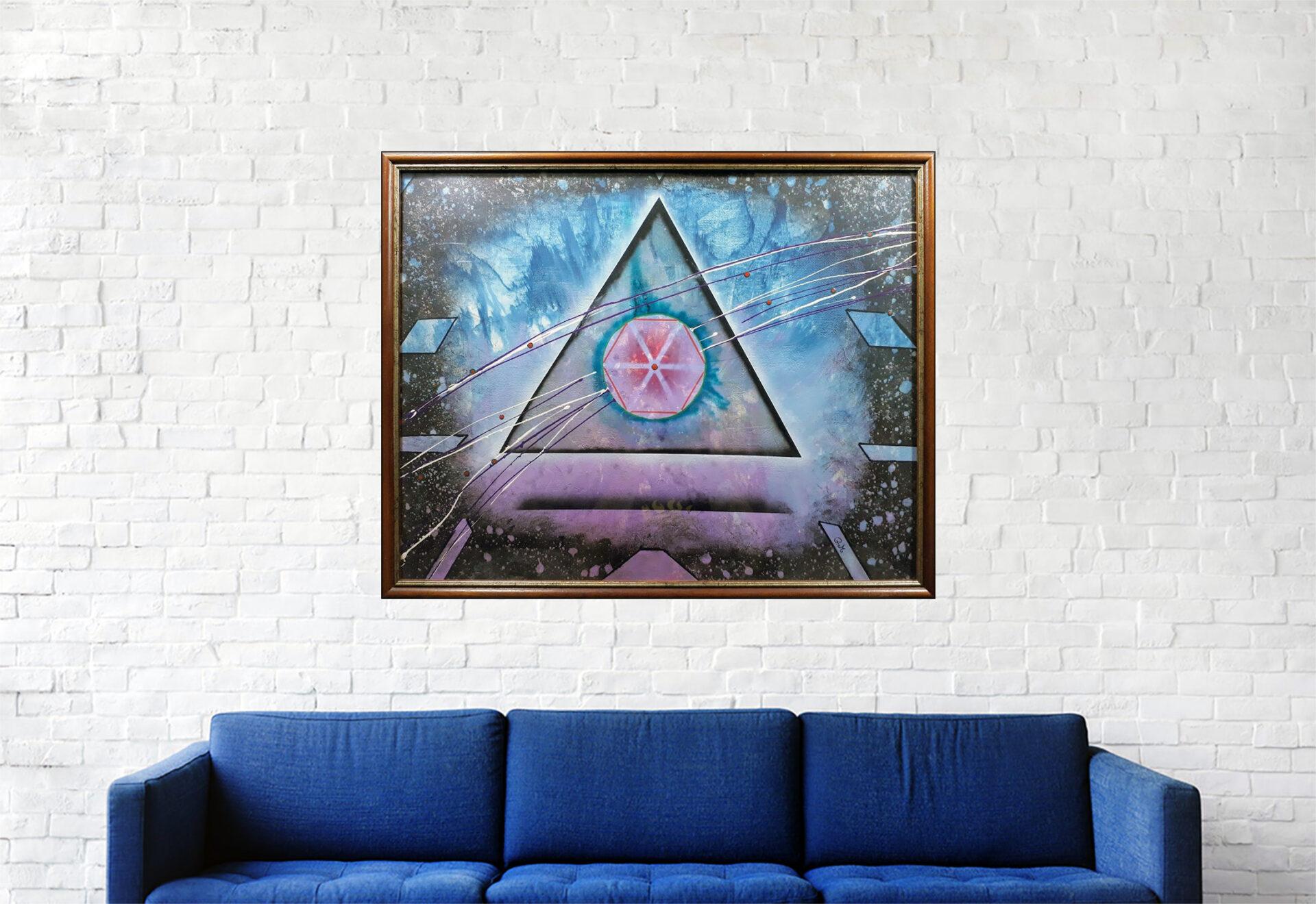 """#171 """"Alpha Scorpii"""" Acrylique sur toile, H50 x L62 cm"""