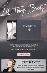 Glossybox Byrdie box