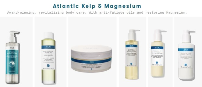 REN Skincare Kelp and Magnesium products
