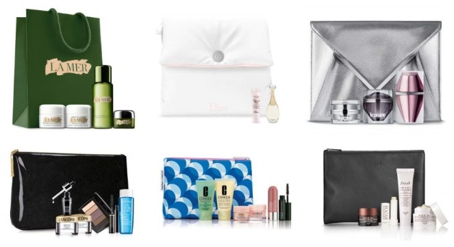 Beauty gifts with purchase at Neiman Marcus and Bergdorf Goodman