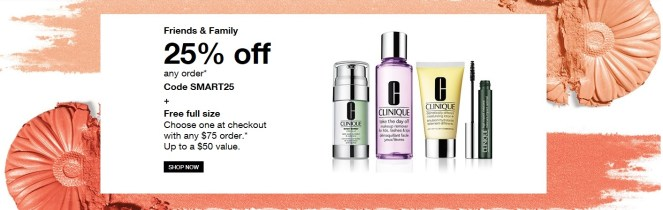 clinique friends and family sale