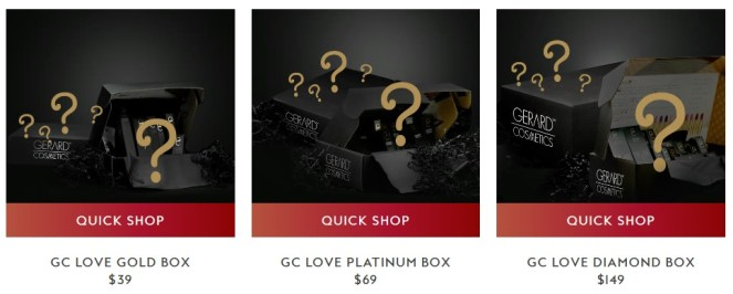 Gerard Cosmetics Mystery Boxes