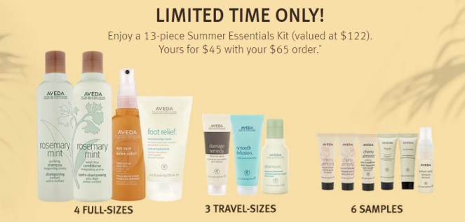 aveda purchase with purchase