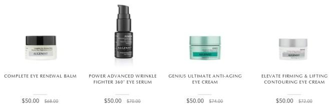 algenist eye creams sale