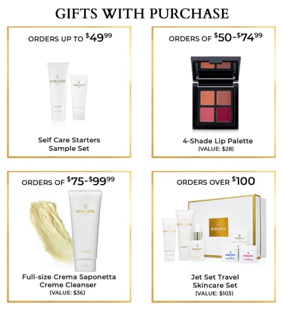 borghese president's day sale gifts with purchase
