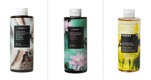 korres shower gel gift with purchase