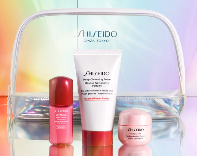 shiseido suncare gift with purchase