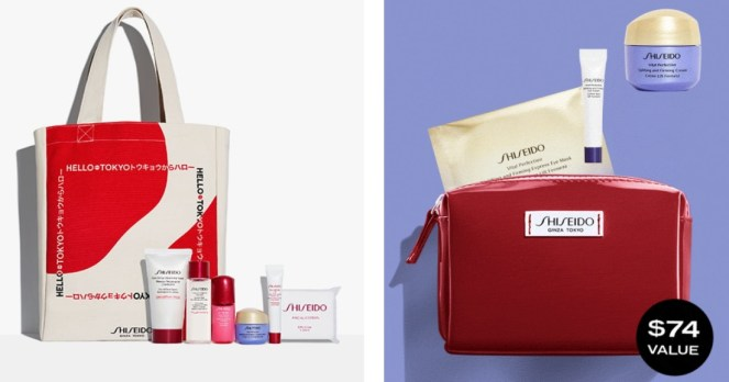 Shiseido GWPs from Nordstrom and Shiseido