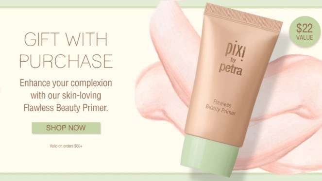 pixi beauty gift with purchase