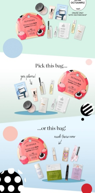 sephora sample bag gift with purchase