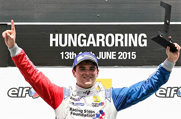 BUDAPEST (HUN) JUNE 12-14 2015 - World series by Renault 2015 at the Hungaroring. Oliver Rowland #4 Fortec. Portrait. © 2015 Sebastiaan Rozendaal / Dutch Photo Agency / LAT Photographic