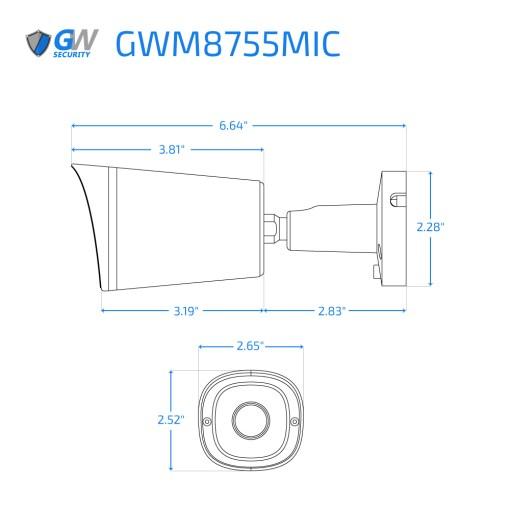 8755MIC dimensions