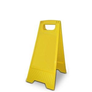 Inklapbaar geel A-bordje, hoog 64 CM