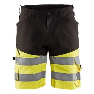 Blåkläder short 1541 met stretch High Vis Zwart/Geel